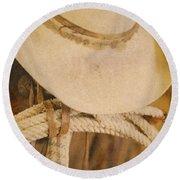 Cowboy Supplies Round Beach Towel