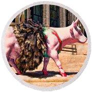 Cow Parade N Y C 2000 - Prima Cowlerina Round Beach Towel
