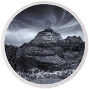 Coyote Buttes Cloud Explosion Round Beach Towel