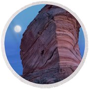 Coyote Buttes Moonrise Round Beach Towel