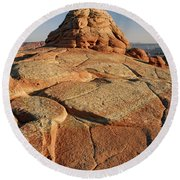 Coyote Buttes Rock Formation Round Beach Towel