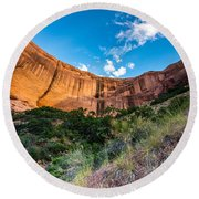 Coyote Gulch Sunset - Utah Round Beach Towel