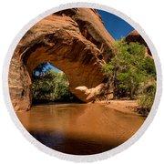 Coyote Natural Bridge - Coyote Gulch - Utah Round Beach Towel by Gary Whitton