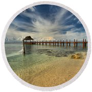 Cozumel Beach Paradise Round Beach Towel