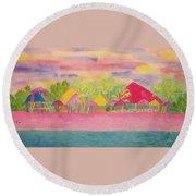 Cozumel Kaleidoscope Round Beach Towel
