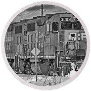 Cp Rail Train Bwtr9099-12 Round Beach Towel