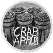 Crab Apples Round Beach Towel