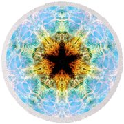 Crab Nebula Iv Round Beach Towel