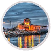 Crab Shack Seafood Restaurant Round Beach Towel