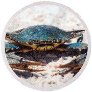 Crabby Crab Round Beach Towel