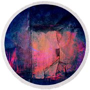 Cracked Round Beach Towel