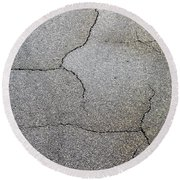 Cracked Tarmac Round Beach Towel