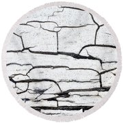 Cracked Wood Pattern Round Beach Towel