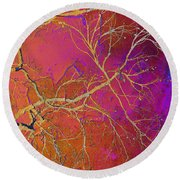 Crackling Branches Round Beach Towel