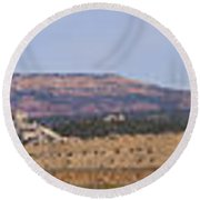 Craig Colorado Panorama Round Beach Towel