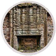 Craigsmillar Castle Fireplace Round Beach Towel