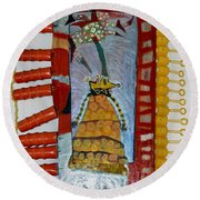 Cranberry Queen Of Portland - Framed Round Beach Towel