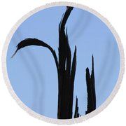 Crane Wood Round Beach Towel