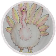 Cranky Turkey Round Beach Towel