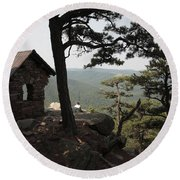 Cranny Crow Overlook At Lost River State Park Round Beach Towel