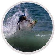 Wave Crashing Round Beach Towel