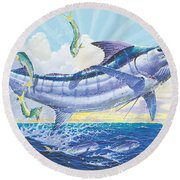Crasher Off0034 Round Beach Towel by Carey Chen