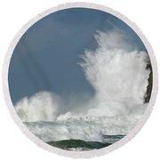 Crashing Surf Round Beach Towel