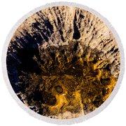 Crater Round Beach Towel