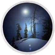 Crater Lake Midnight Oregon Round Beach Towel
