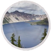 Crater Lake Or 10 Round Beach Towel