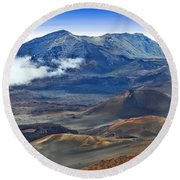Craters And Cones Round Beach Towel