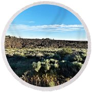 Craters Of The Moon 3 Round Beach Towel