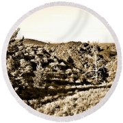 Craters Of The Moon1 Round Beach Towel