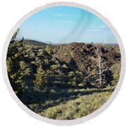 Craters Of The Moon2 Round Beach Towel