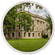 Crawford County Courthouse Round Beach Towel