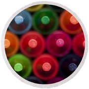 Crayon Tips 1 A Round Beach Towel