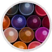 Crayons Round Beach Towel