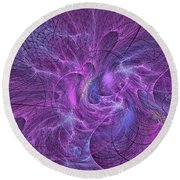 Crazy Cartesians-2 Round Beach Towel