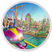 Crazy Coaster Round Beach Towel by Adrian Chesterman