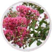Crazy For Crepe Myrtles Round Beach Towel