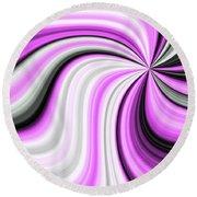 Creamy Pink Graphic Round Beach Towel