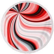 Creamy Red Graphic Round Beach Towel