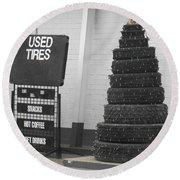 Creative Christmas Tree Round Beach Towel