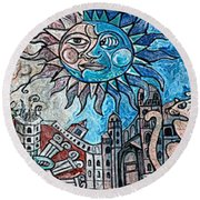 Creative Creating Round Beach Towel