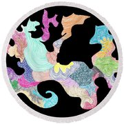 Creature Of Color Round Beach Towel