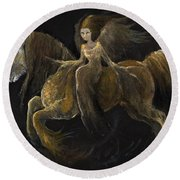 Creatures Of The Night Round Beach Towel