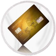 Credit Card Round Beach Towel