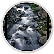 Creek Flow Polyptych Round Beach Towel