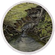 Creek  Round Beach Towel by Janet Felts