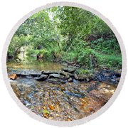 Creekside 2 Round Beach Towel